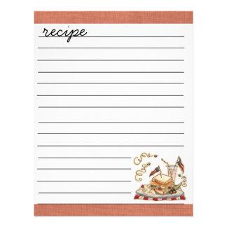 recipe sheet custom flyer