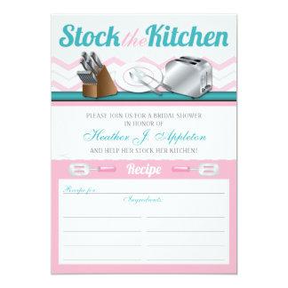 Recipe Stock the Kitchen Bridal Shower Invitations