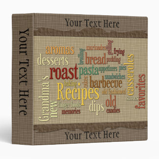 "Recipes 2 Album 1.5"" Binder"