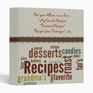 Recipes Album Binders