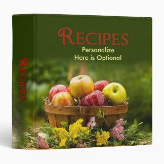 Recipes Binder - Apples