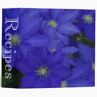 Recipes Binder Blue Flowers