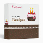 Recipes - Cute chocolate with strawberries cakes Binders