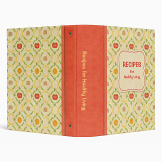Recipes for Healthy Living Cookbook Vinyl Binders