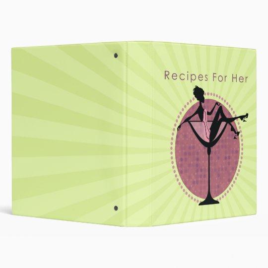 Recipes For Her Recipe Book Binder Cookbook
