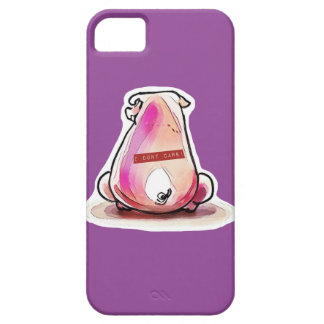 reckless pig and text strip on his back iPhone 5 covers