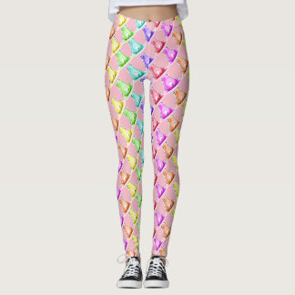 reckless pig festive color cartoon style leggings