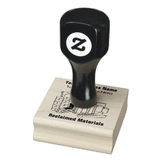 Reclaimed Materials Business Rubber Stamp