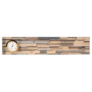 Reclaimed Wood, Sustainable Material Desk Name Plates