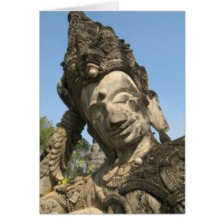 Reclining Buddha ... Nong Khai, Isan, Thailand Card