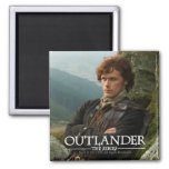 Reclining Jamie Fraser photograph Square Magnet