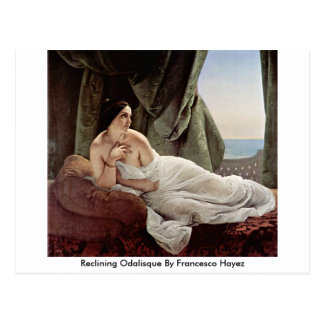 Reclining Odalisque By Francesco Hayez Postcard