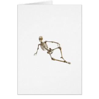 Reclining Skeleton Card