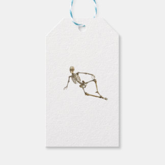 Reclining Skeleton Gift Tags