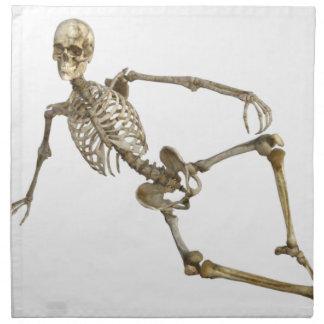 Reclining Skeleton Napkin