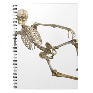 Reclining Skeleton Notebook