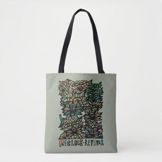 Recluse Revival BuddaKats Tote Bag