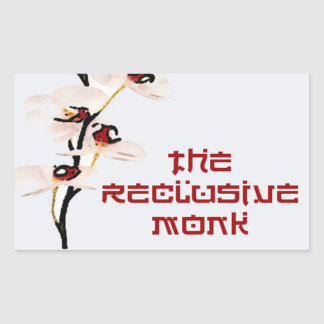 Reclusive Monk Rectangle Red Orchid Sticker