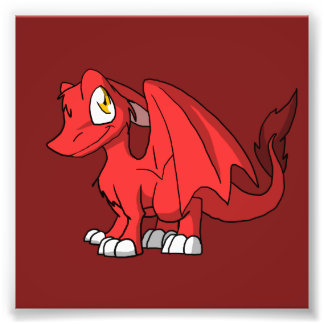 Recolorable SD Furry Dragon w/ Any Dark Color Back Photo