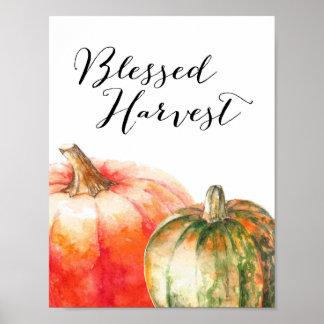 Récolte bénie - affiche de thanksgiving
