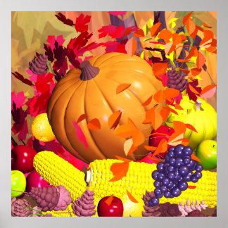 Récolte de thanksgiving de chute poster