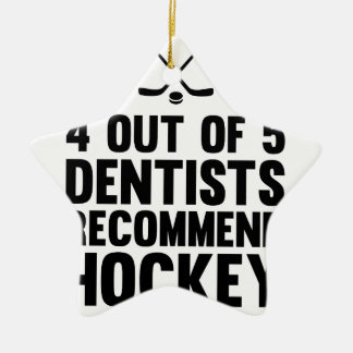 Recommend Hockey Ceramic Ornament