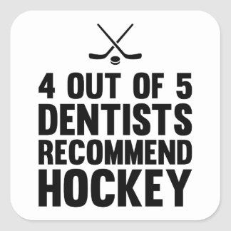 Recommend Hockey Square Sticker