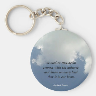 reconnect with the universe basic round button keychain