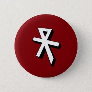 Reconquista mono gram 2 inch round button