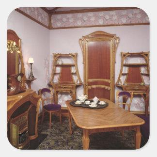 Reconstruction of a salon of the Cafe de Paris Square Sticker