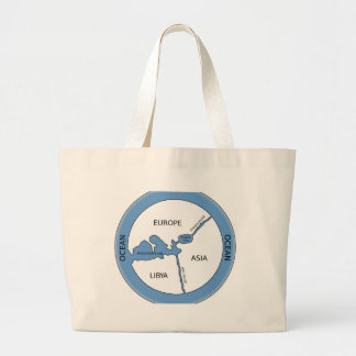 Reconstruction of Anaximander's map Jumbo Tote Bag