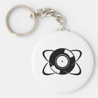 Record Atom Keychain