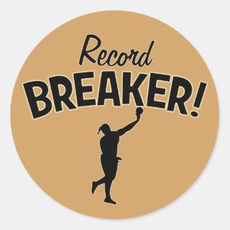 Record Breaker! Shot Put Throw Stickers