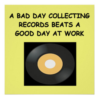 record collecting poster