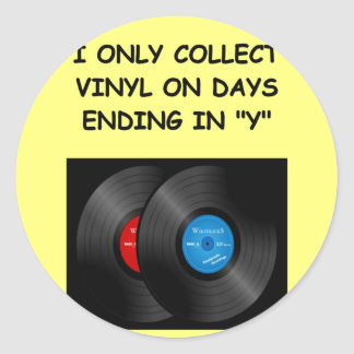 record collecting sticker