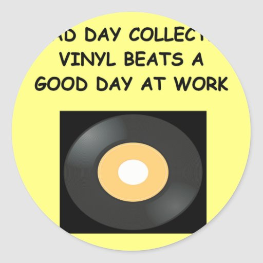 record collecting round stickers