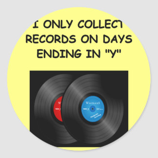 record collecting stickers