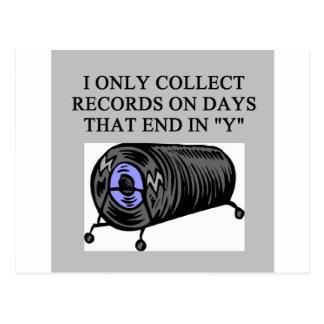 RECORD collector joke Postcards