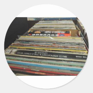 Record Mania Round Sticker