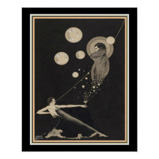 """""""Record of My Existence"""" Art Deco Print 16 x 20"""