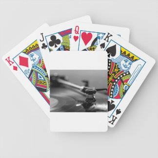 Record Player Bicycle Playing Cards