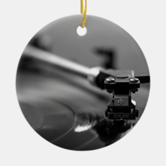 Record Player Ceramic Ornament