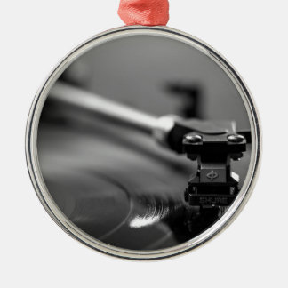 Record Player Metal Ornament