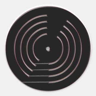 Record Round Sticker