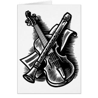 recorder and violin card