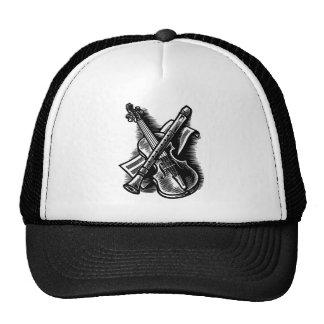 recorder and violin trucker hat
