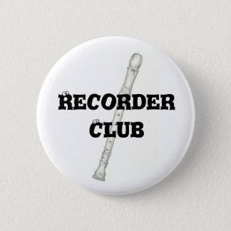 Recorder Club 2 Inch Round Button