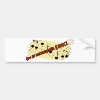 Recorder/Instrument Bumper Sticker