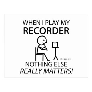 Recorder Nothing Else Matters Postcard