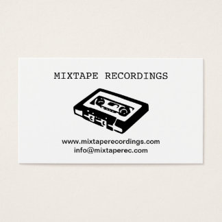 Recording studio business cards